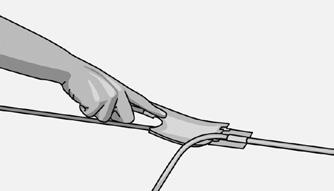 Предварительная подрезка шнура